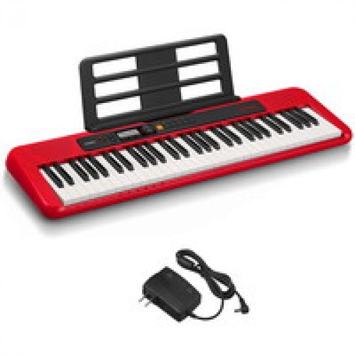 スリム&スタイリッシュなポータブルデザイン カシオ(CASIO)電子キーボード Casiotone CT-S200RD(レッド:赤) 61鍵盤