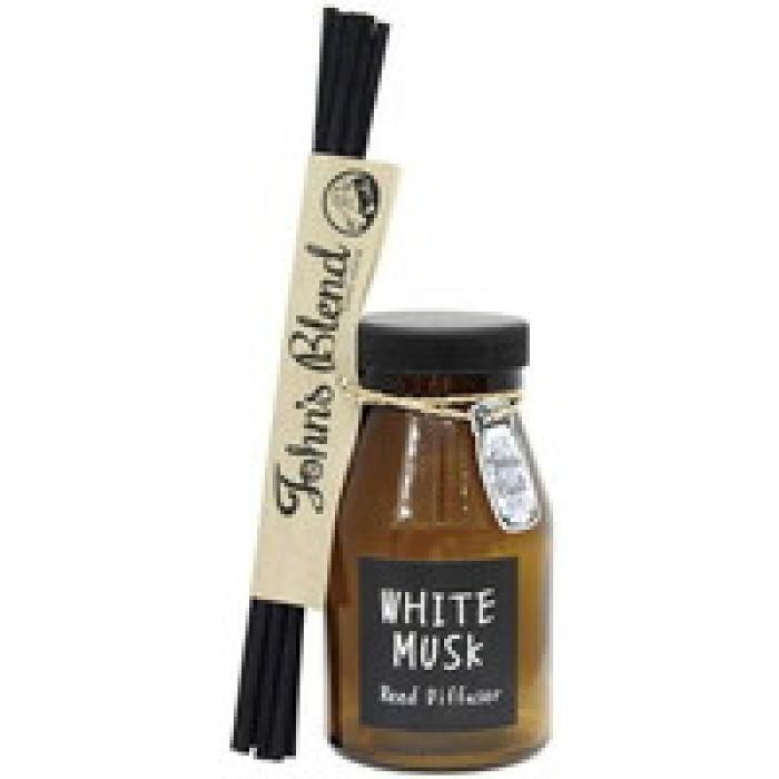 暮らしの中にいつもお気に入りの香りを ノルコーポレーション ルームフレグランス リードディフューザー Johns Blend ホワイトムスク OA-JON-6-1 ホワイトムスクの香り 140ml