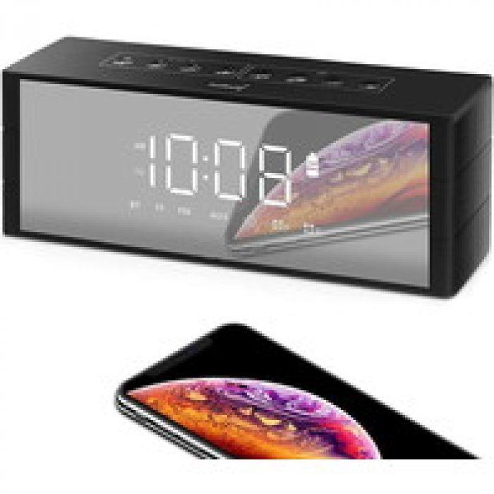最大24時間(約500曲)の連続再生が可能 ZealSound Bluetoothスピーカー 時計スピーカー ブルートゥース ワイヤレス スピーカー ポータブルスピーカー