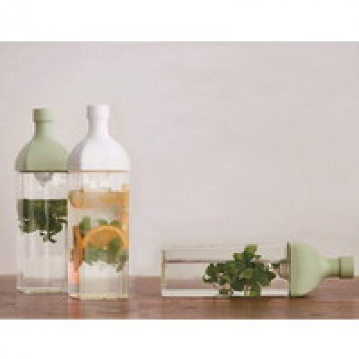 水出し茶ほかアレンジドリンク作りに適当、横置きも出来る HARIO(ハリオ)  カークボトル 食洗機対応 1.2リットル ホワイト 日本製