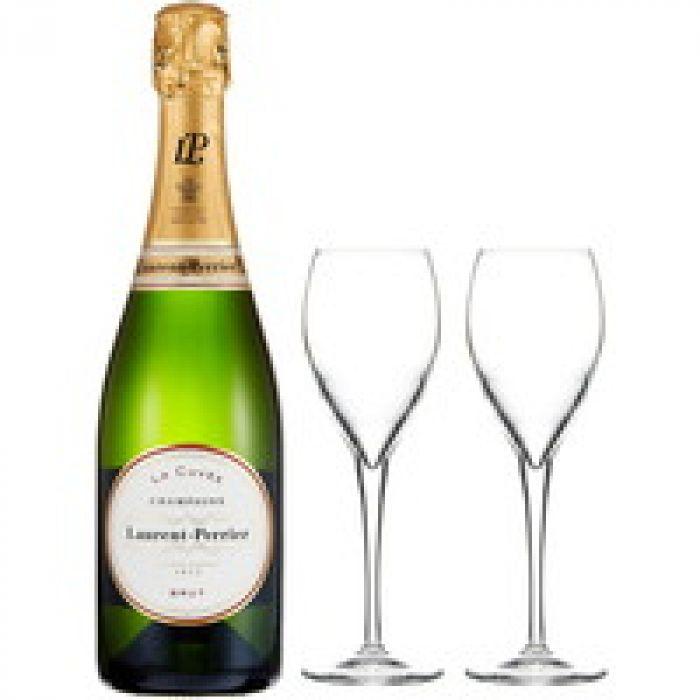英国王室御用達のシャンパン ローラン ペリエ ラ キュベ 非売品シャンパングラス付
