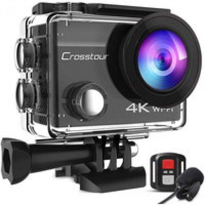 小さいながらも強力 【進化版】Crosstour アクションカメラ 4K高画質2000万画素
