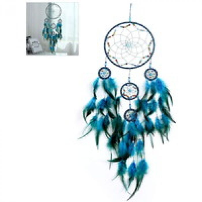 hapler ドリームキャッチャー 5リング 壁掛け 羽飾り 羽根 ジュエリー フェザーウィンドチャイムペンダント