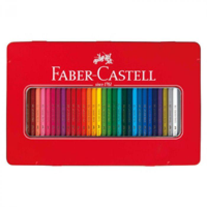 描き心地なめらかな色鉛筆セット ファーバーカステル 油性色鉛筆 平缶 36色セット