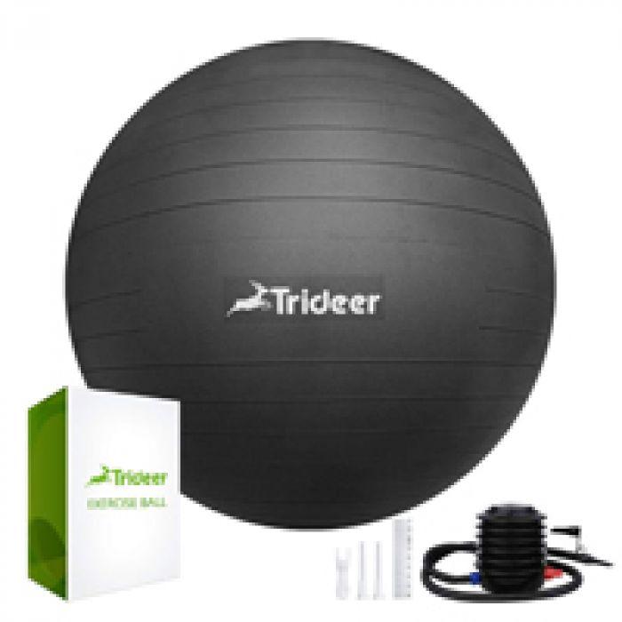 テレビを見ながらトレーニングもできる! Trideer バランスボール45cm(11色) 厚い ヨガボール ピラティスボール 耐荷重500KG