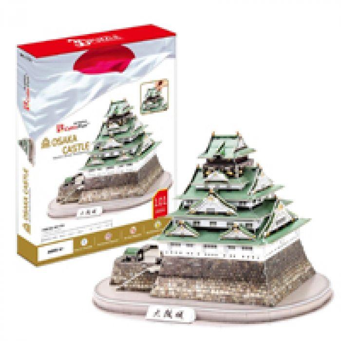 のりもハサミも使わずに作れる! 3D立体パズル 大阪城
