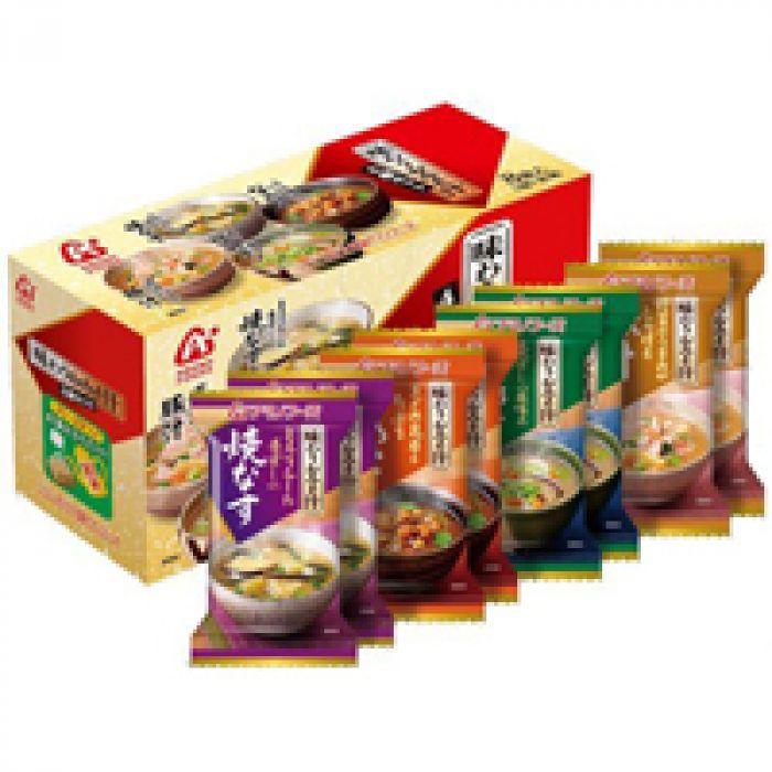 毎日でも食べ飽きないおいしさ アマノフーズ 味わうおみそ汁 8食(4種×2個)