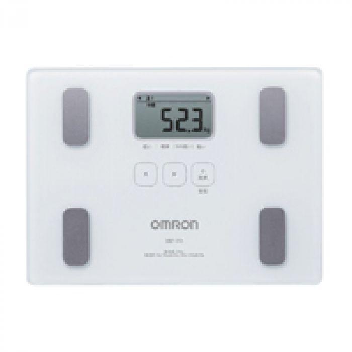 コンパクトで収納しやすいA4サイズ オムロン 体重・体組成計 カラダスキャン ホワイト