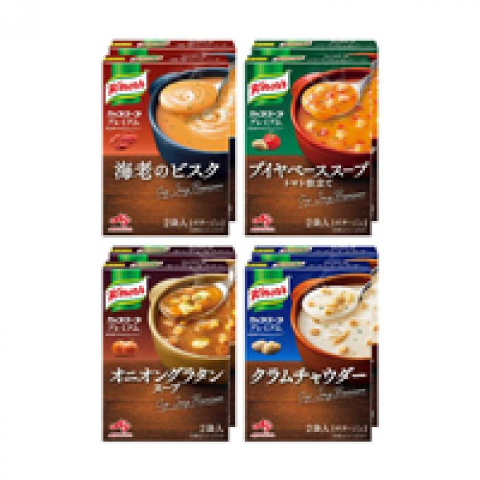 いつものメニューにスープをオン クノール カップスーププレミアム 16袋セット