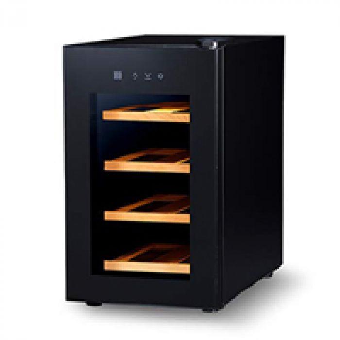 圧倒的な高級感と使いやすさを両立 PlusQ/プラスキュー ワインセラー 8本収納 日本メーカー製ペルチェ採用 コンパクトモデル