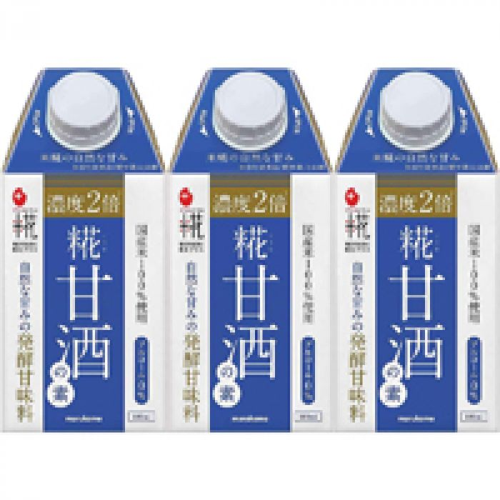 自然で濃厚な甘み マルコメ プラス糀 糀甘酒の素 500ml ×3個
