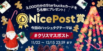 aaaamamagirl NicePost賞『#クリスマスポスト』