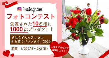 aaaaInstagramフォトコンテスト「#お花でバレンタイン2020」