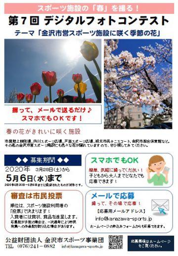 aaaa第7回 金沢市スポーツ施設 花の写真デジタルフォトコンテスト