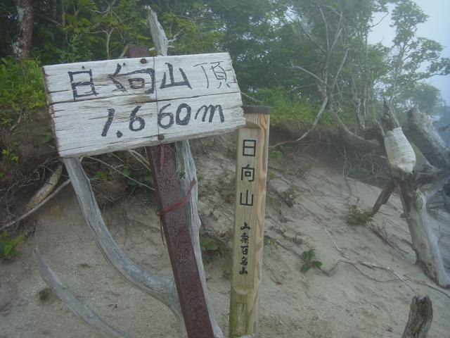 山頂標はこちら。 標高は1660mですが、登山口がすでに1000m近いので、比較的楽に登れます。