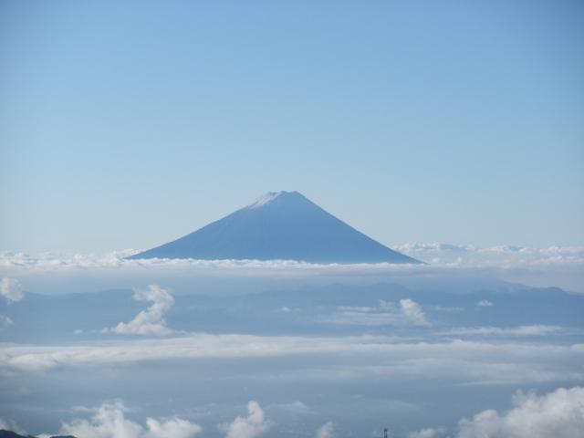 今日は富士山がよく見える。