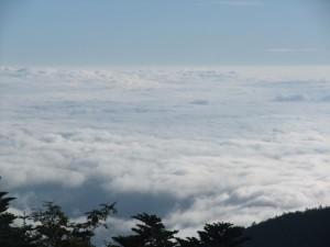 山でパスタを打った翌日。 テントを片付けて、さて。 今日は雲海がすごいな。