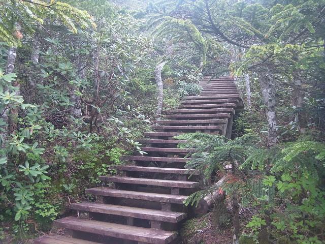 ゆっくり休んでからスタート。 最初から階段地獄が待っているのです。