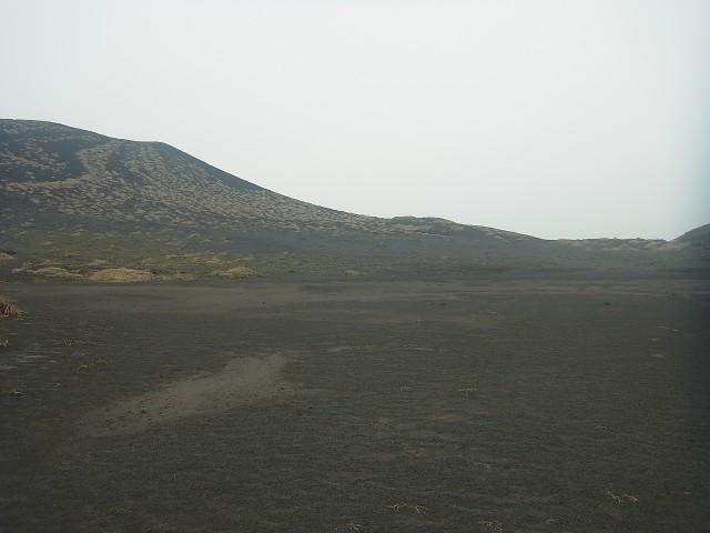 どこが道だかわからないけど、分岐点。 なんか砂漠感が半端ないです。