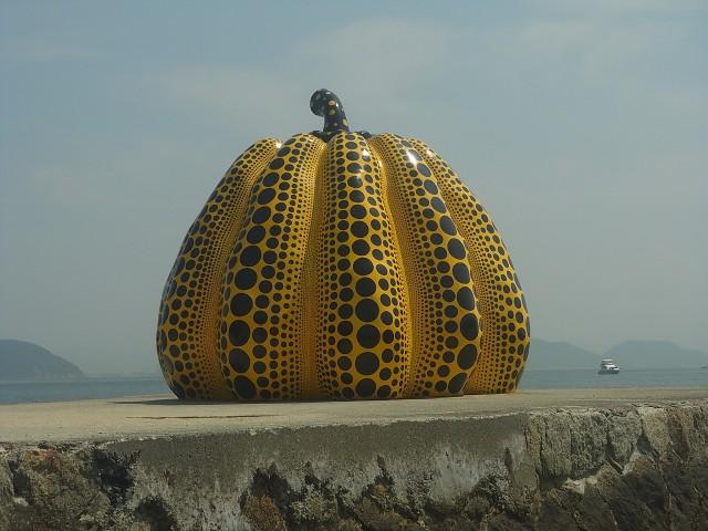 もうひとつの黄色いかぼちゃ。 こっちのほうが人気でした。