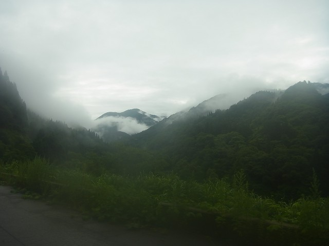 とりあえず、林道まで降りてきました。 下山すると雨が止む。 登山あるあるです。