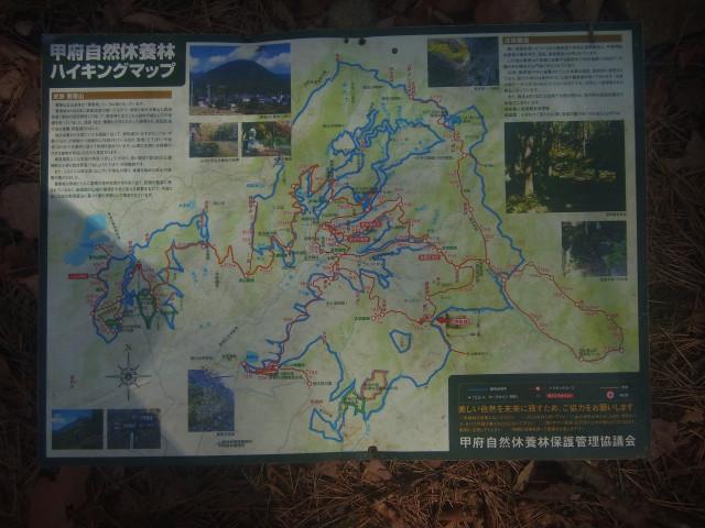 ハイキングマップがあったので、一枚撮っておきました。 けっこうな広範囲をカバーしています。