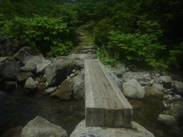 下のほうまで降りてくると、かなり整備された道になります。 木橋もしっかりしている。