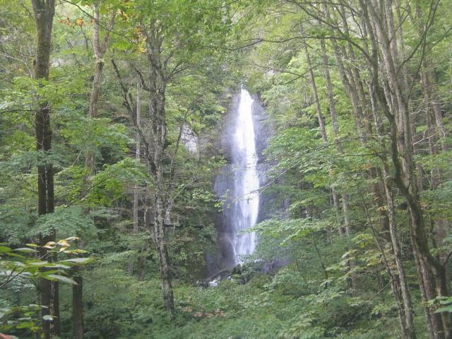 なかなか立派な滝が。